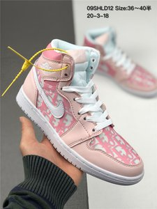 Men's and women's shoes limited edition luxurious Nike air jordan retro 1 fashionable street style Ins burst custom color Logo D A1J High