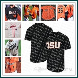Ucuz Moda Erkekler Özel Dikişli Oregon Eyalet Kunduzlar NCAA Kolej Beyzbol 3 Nick Madrigal 11 Trevor Larnach Tüm Dikişli Formalar Toptan