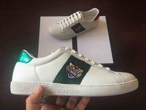 new 2020 Quality Big size US5-US13 White black Shoes designer leather ace shoes man women plus size luxury casual shoes hococal dust bag
