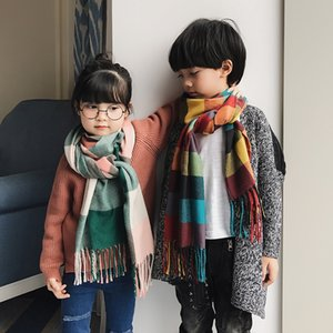 bufanda más gruesa bufanda de los niños del niño del padre en otoño e invierno