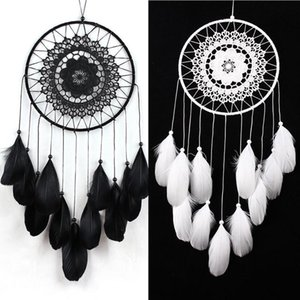 Handmade Dream Catcher Sincere Weaving Catching Up The Dream Angle Fashion Available In Black and White Home Wall Hanging Decoration