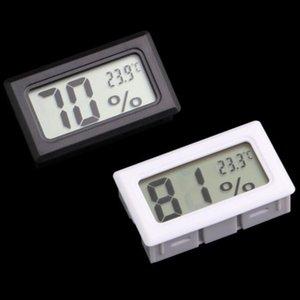LCD Mini Digital incorporado Termômetros Higrómetros Temperatura medidor de umidade interior Termômetro preto LX4062 Branco