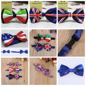 Erkekler Bow Kravatlar Kelebek Amerikan Bayrağı İngiliz bayrağı Gentleman Düğün 5 Renk Ayarlanabilir Düğün Balo boe kravat 50pcs