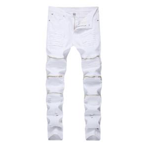 Pop2019 European Amazon Trend Jeans Homme Pantalon Locomotive Fermer Robe Wish Cattle