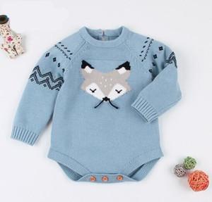 Bebê crianças roupas de grife Meninas Menino romper Malha Cor Sólida Macio Manga Longa Romper infantil roupa romper B11