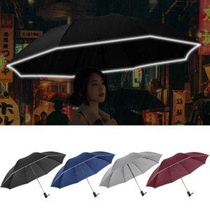 Otomatik Şemsiye Ters Katlama İş Şemsiye ile Yansıtıcı Şemsiyeler Yağmur İçin Erkekler Kadınlar Yağmur Gear 2020 Yeni Şeritleri