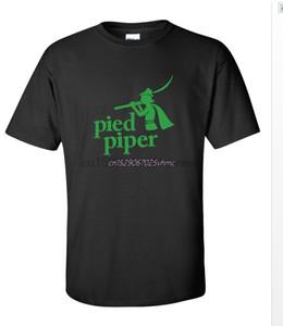 DJ Pied Piper Music Logo мужская черно-зеленая футболка рубашка Gifft S-5XL