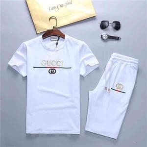 20ss Hot sale Tracksuits Fashion Designer T-Shirt +Pants 2 Piece Sets Solid Color Brand Suits High Quality Medusa men s designer sweat suits