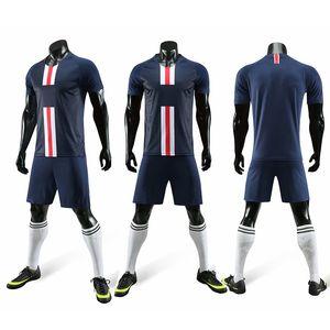 2019/2020 nouvelle personnalité du football Enfants adultes customize Football maillot de court enfant hommes futbol formation bricolage Uniformes jeu