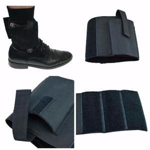 Hunting Concealed Universal Black Carry Ankle Leg Pistol Holster Black Nylon