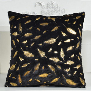 DHL Fur Decorative Cushion Cover Home Plush Pillow Case Bed Room Pillowcases Pillows Car nd Seat Decoration Sofa Throw Pillow covers 45*45CM