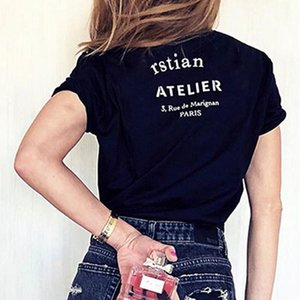 20FW France High Quality Street Tee Classic Logo Letter Printed T-Shirt Solid Short Sleeves Men Women Summer Crew Neck Tee HFYMTX707