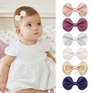 S791 Baby Girl Girl Faux Leather Butternot Barrettes Kids Hair Clips Princess Girls Bows Barrette Girls Children Superques