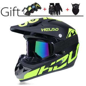 Топ Горячий внедорожный мотоциклетный шлем Полушлем с открытым лицом Шлем с защитными очками Перчатки для маски Casque De Moto РАЗМЕР: M L XL Capacete