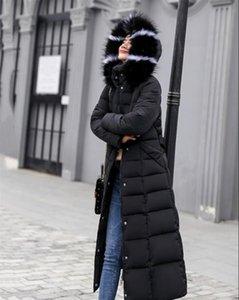 Dugujunyi 2019 New Parkas Weiblich Frauen Wintermantel Eindickung Baumwolle Winterjacke Frauen Outwear Parkas für Frauen Lange H