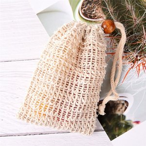 Mesh Soap With Wooden Beads Foaming Net Bubble Mesh Bag Skin Bathroom Bath Brushes Sponges Scrubbers Clean Tools