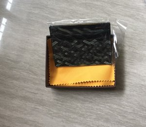 2019 Париж стиль роскошный дизайнер классический известные мужчины женщины известный натуральная кожа держатель кредитной карты мини-кошелек