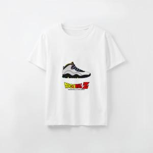 Дизайнер Tshirt Custom напечатан мужской Luxury тенниска для женщин Dragon Ball X Sneaker Печатных Модальной Лучшего Гок Не тегов и этикетки DIY20200801X