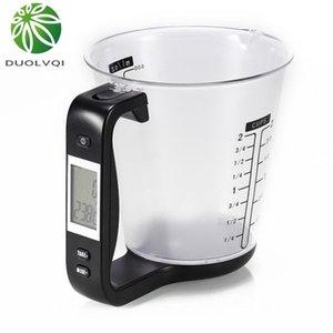 Practical Household Kitchen Electronic Scale Multifunctional Electronic Digital Measuring Cup DIY Baking Milk Powder Gauge Tools Y200328