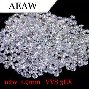 AEAW 1.9mm Insgesamt 1 CTW Karat DF Farbe Certified Lab Grown Moissanite Diamant-lose Korn-Test positiv Fine Jewelry
