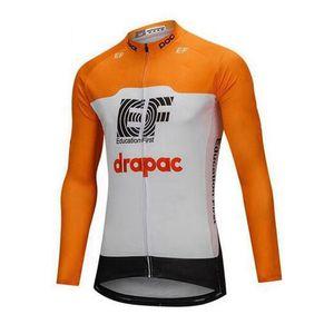 EF 교육 첫 번째 팀 사이클링 긴팔 저지 자전거 의류 빠른 드라이 사이클 의류 산악 자전거 착용 로파 Ciclismo B615-42