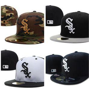 Cheap White Sox misura le protezioni del berretto da baseball ricamato della squadra formato Brim Hat White Sox Baseball Cap Size
