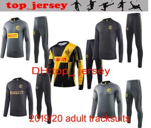 Размер S-XXL New INTER футбольные костюмы куртка 19 20 Inter тиа Качество полная Футбол Учебные комплекты костюм куртка 2020