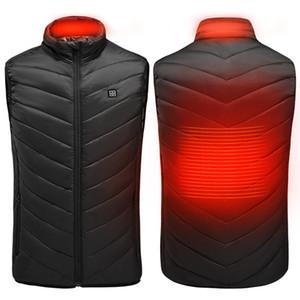 Elétrico aquecido Vest Homens Mulheres Aquecimento Colete Roupa Quente térmica usb aquecida Outdoor Vest Inverno aquecida T200102 Jacket