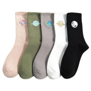 Netter Herbst japanischen Harajuku Socken Frau Planet Magie Array Stickerei Lange Socken der koreanischen Frauen Art Kawaii Mädchen-Socken-Geschenke