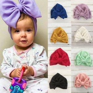 0-24M Outono-Inverno Bebés Meninas Hat Big Bow Algodão de malha de lã quente grossa Hat bebê Crianças Newbworn Bonnet Cap Beanie for Girls