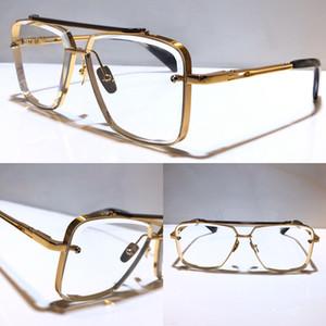 diseñador unisex seis vasos de metal de la vendimia de los anteojos estilo de moda vidrios ópticos sin marco cuadrado UV 400 lentes con una calidad superior de la caja original,