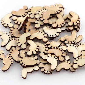 50pc 12 * 17 Симпатичные деревянные Footprint Shapes Laser Blank Приукрашивания Craft карты Декор Scrapbook Craft карты Wood Craft украшения