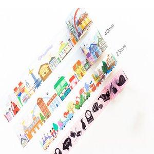 2016 Amusement Park Paper Tapes Mini Portable Two Size Are Optional Decorative Beautification Album Diary Student Supplies