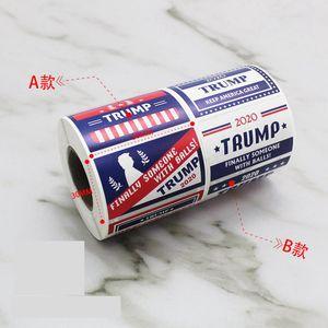 Trump Face Stickers President Donald Trump Face Patch 500pcs / Rodillo Mantenga América Gran Pegatina para el parachoques Ropa Pegatina decorativa LJJO7655