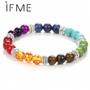 Fashion 7 Chakra Bracelet Men Black Lava Healing Balance Beads Reiki Buddha Prayer Natural Stone Yoga Bracelet Women Jewel