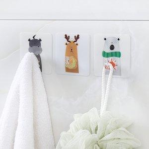 Heißer Verkauf-nicht-perforierte Klebehaken Starke Tragfähige Küche Cartoon Tier Wandbehang keinen Nagel frei Haken Sticky Haken