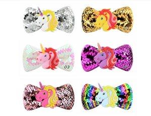 Mix Kids Colors licorne Paillettes Barrettes épingles à cheveux Pinwheel Accessoires cheveux Bow avec enfants Birthday Party cosplay Barrettes A45