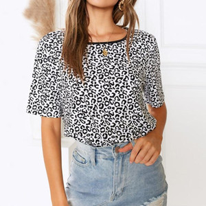 Casual Print Short-sleeved Round Neck T-shirt Size XXL