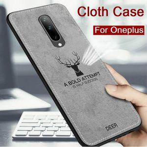 Mode Deer Tuch Telefon-Kasten für OnePlus 7T Pro 7 Fall Stoß- weichen Silikon-Hülle für OnePlus 7PRO 6T 6 5T