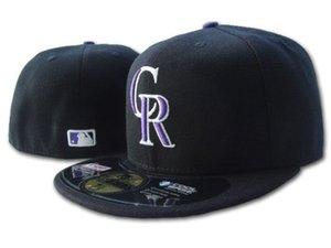 Горячая команда 2020 оснащен Скалистых горах шляпы бейсболки вышитый логотип письмо CR полный закрытый шапки унисекс