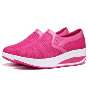 Hot Sale-Breathable Slim Shoes Increase Shoes Slip On Lazy Light Casual Work Loafers