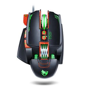 NUEVA V9 USB mecánica juego del ratón 3200DPI RGB de luz de fondo de agua de refrigeración programable juego ratones para jugadores de PC portátiles Pro
