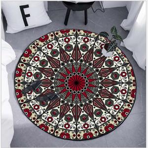 AOVOLL Alfombras dormitorio Ronda étnico Alfombra de América del Norte de África Cesta colgante del asiento alfombra de la estera manta de área de sala de estar