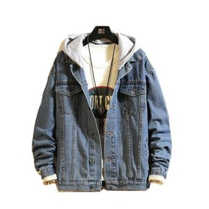 2019 VXO Men Jacket Hombres Bomber Denim Jacket 4Xl 5Xl Spring Hooded Men'S Jeans Chaquetas Casual Slim Chaqueta Hombre Outwear