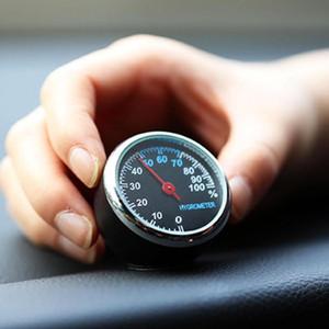 سيارة ميني سيارات ساعة رقمية ووتش السيارات السيارات ميزان الحرارة رطوبة الديكور حلية على مدار الساعة في زينة السيارات