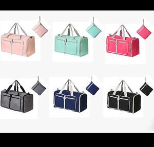 Borsone da viaggio tinta unita di grande capacità Borsa da palestra pieghevole Valigia di design di lusso Borsa da viaggio per bagagli portatili