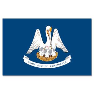 Louisiana State Flag 3x5FT bandiera 100D 150x90cm poliestere ottone anelli di tenuta bandierina su ordinazione di alta qualità, spedizione gratuita