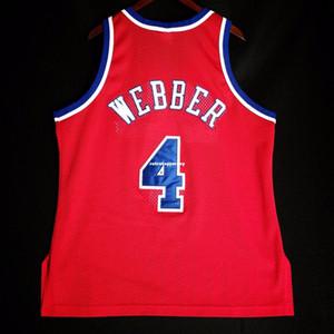 100% cousu Chris Webber Champion Bullets Jersey L Mens Vest Taille XS-6XL maillots de basket-ball cousu Ncaa