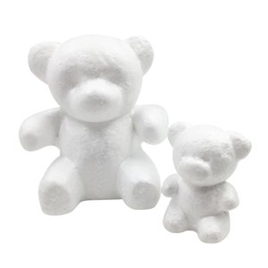 15 * 10 cm modellazione polistirene polistirofoam schiuma orso modello materiale fatto a mano materiale fai da te orso natale festa decorazione forniture regali
