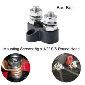 Bloque de terminales de barra de autobús de alta resistencia Dual M8 espárragos de distribución de energía para camión RV gran resistencia mecánica y durabilidad # LR4